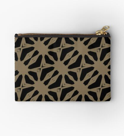 Pattern in Taupe by Julie Everhart Zipper Pouch