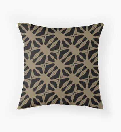 Pattern in Taupe by Julie Everhart Throw Pillow