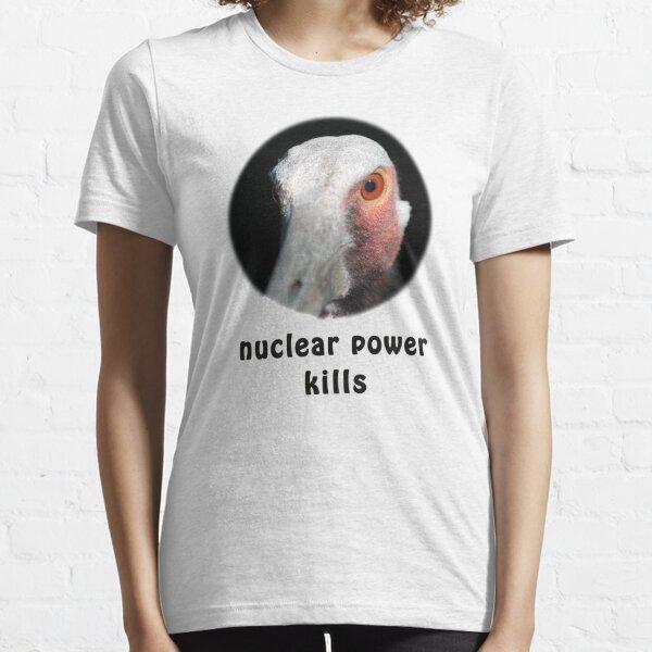 Sarus Crane gegen Atomkraft Essential T-Shirt
