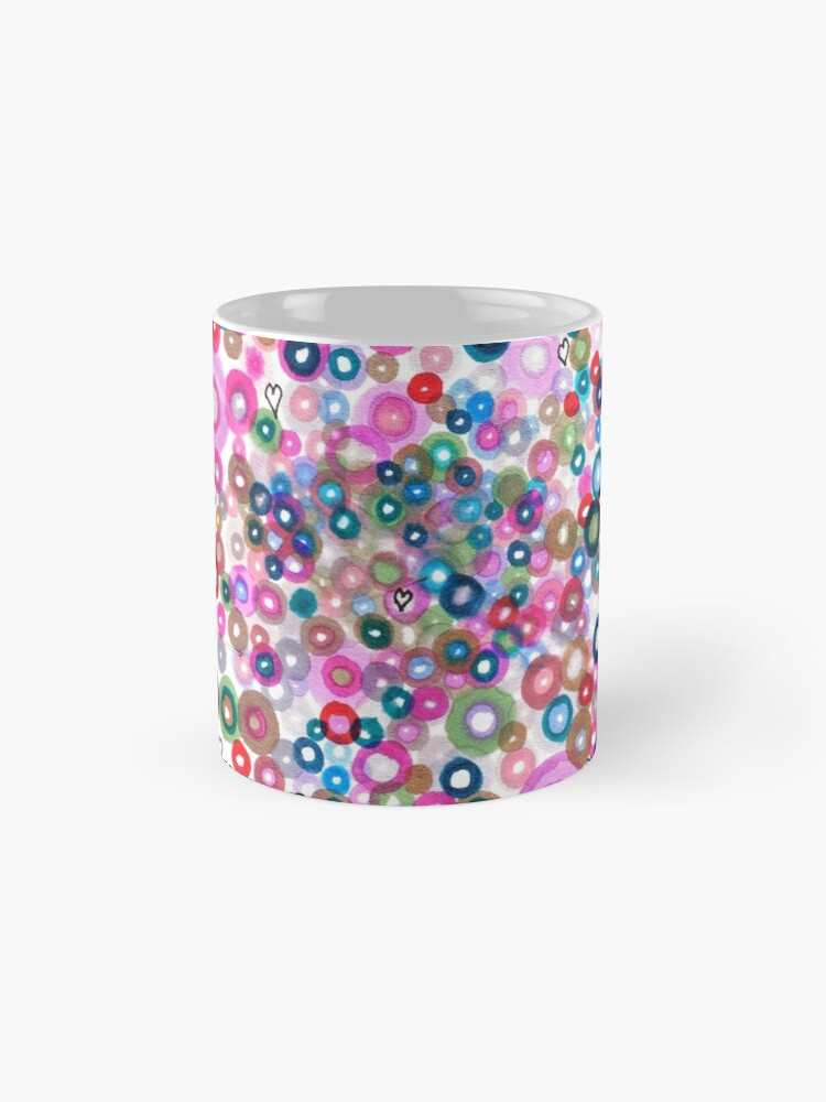 Alternate view of Abstract Pattern Valentine Mug