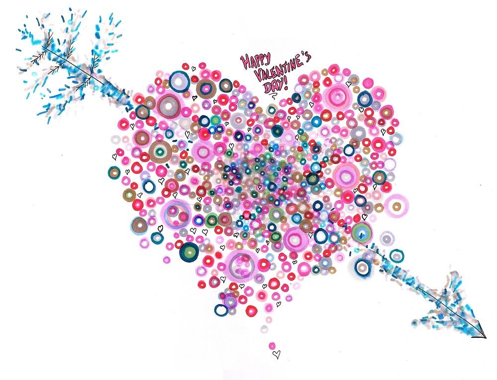 Abstract Pattern Valentine by Regina Valluzzi