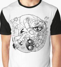 The Yin-Yang Robo Fight! Graphic T-Shirt