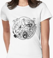 The Yin-Yang Robo Fight! Womens Fitted T-Shirt