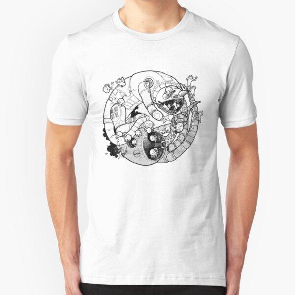 The Yin-Yang Robo Fight! Slim Fit T-Shirt
