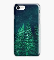 Nature Forest - Night Star Signal iPhone Case/Skin