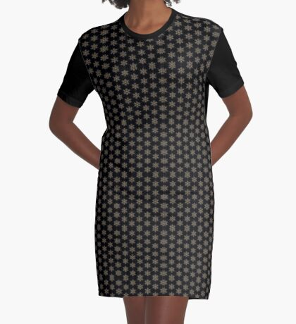 Black with Taupe Design by Julie Everhart Graphic T-Shirt Dress