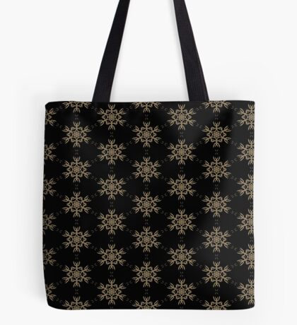 Black with Taupe Design by Julie Everhart Tote Bag