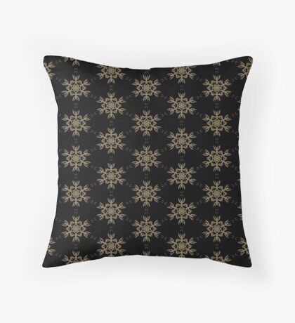 Black with Taupe Design by Julie Everhart Throw Pillow