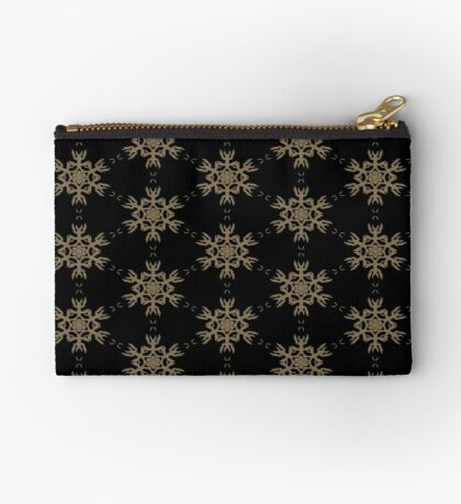 Black with Taupe Design by Julie Everhart Zipper Pouch
