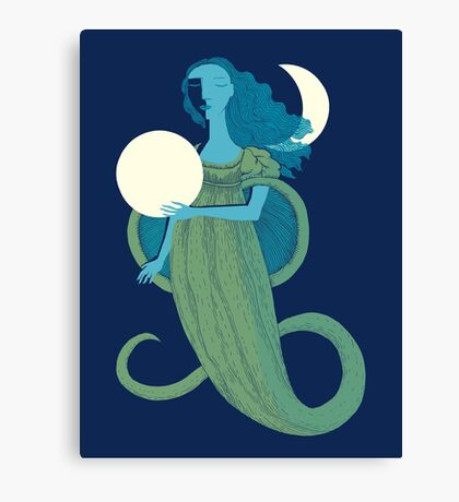 Moonlight Mermaid Canvas Print