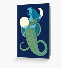 Moonlight Mermaid Greeting Card