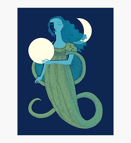 Moonlight Mermaid Photographic Print