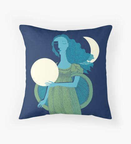Moonlight Mermaid Throw Pillow