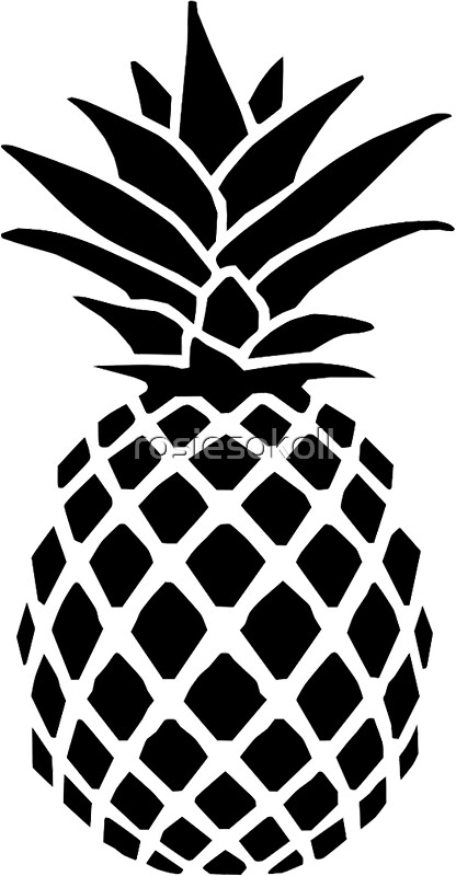 Pineapple Black Gifts Amp Merchandise Redbubble