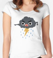 Grumpy Cloud Fitted Scoop T-Shirt