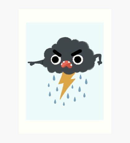 Grumpy Cloud Art Print