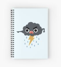Grumpy Cloud Spiral Notebook