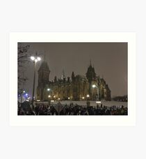 East Block - Parliament Hill, Ottawa, NY eve Art Print