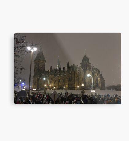 East Block - Parliament Hill, Ottawa, NY eve Metal Print