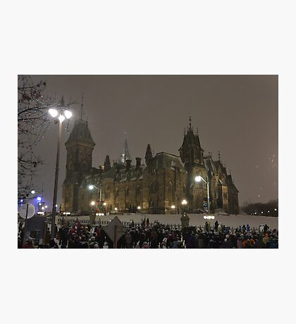 East Block - Parliament Hill, Ottawa, NY eve Photographic Print