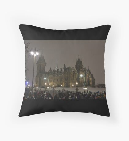 East Block - Parliament Hill, Ottawa, NY eve Throw Pillow
