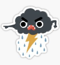 Grumpy Cloud Sticker