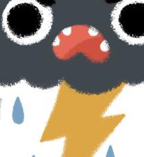 Grumpy Cloud Sticker