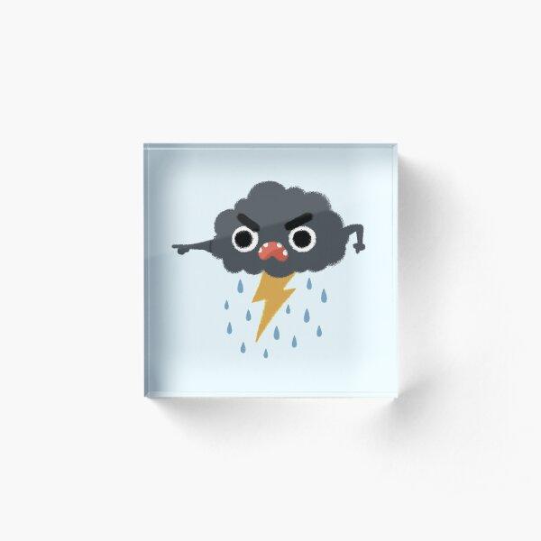 Grumpy Cloud Acrylic Block