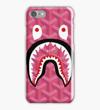 shark bape goyard pink iPhone Case/Skin
