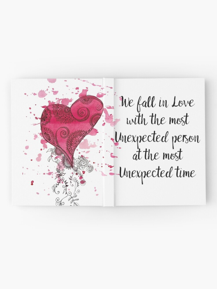 Alternate view of Unexpected Love Quote for valentines Day  Hardcover Journal