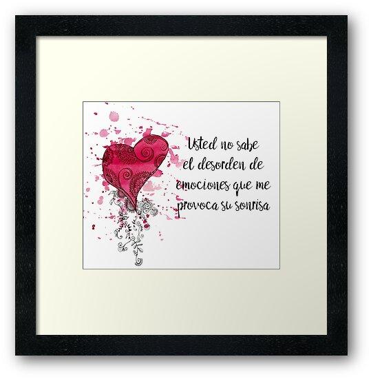 Frase De Amor Para El Dia De Los Enamorados Framed Prints By