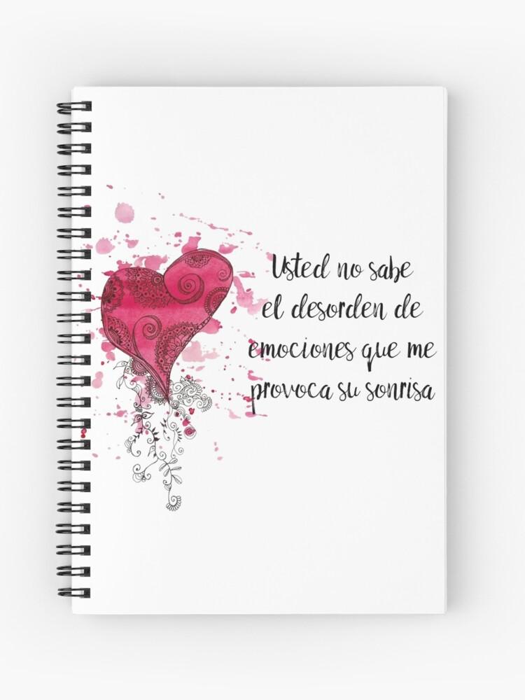Frase De Amor Para El Día De Los Enamorados Cuaderno De Espiral