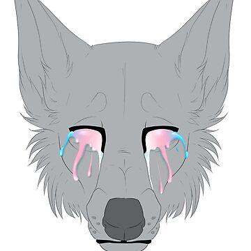 Trans Pride Wolf by TashaDawn