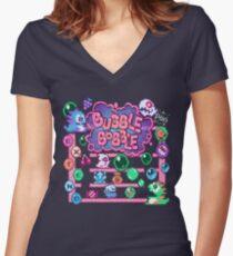 Bobble Bubble Women's Fitted V-Neck T-Shirt