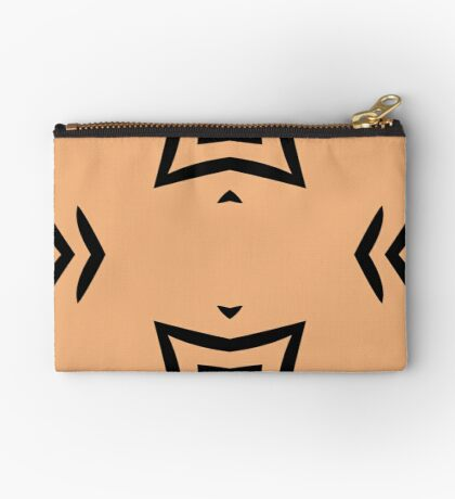 Peachy Tan with Black Stripes 2 by Julie Everhart Zipper Pouch