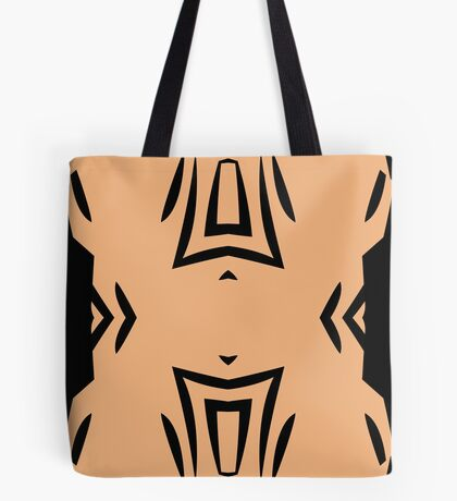 Peachy Tan with Black Stripes 2 by Julie Everhart Tote Bag
