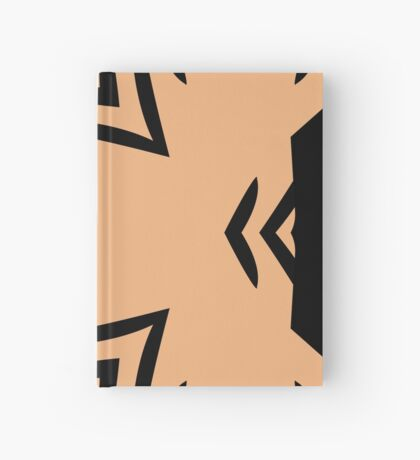 Peachy Tan with Black Stripes 2 by Julie Everhart Hardcover Journal