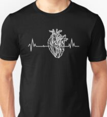 Geometric Anatomical Heartbeat Unisex T-Shirt