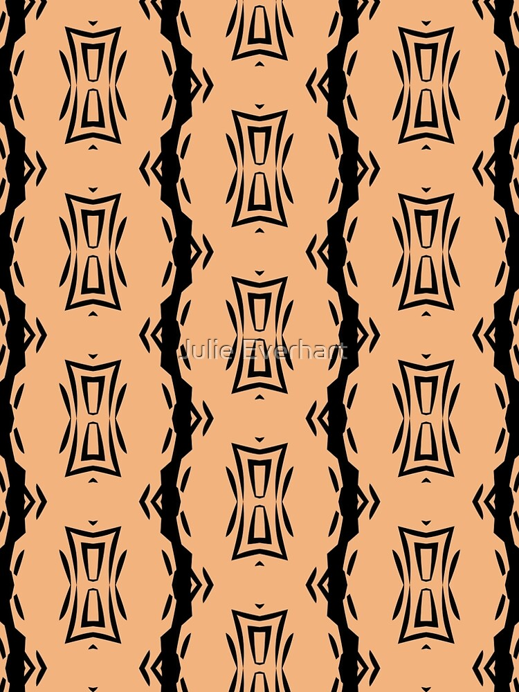 Peachy Tan with Black Stripes 2 by Julie Everhart by julev69