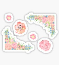 Watercolor Floral Stickers  Sticker