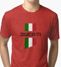 ducati, logo, flag Tri-blend T-Shirt