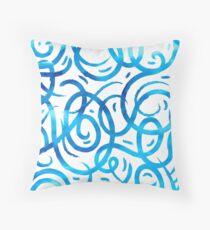 Azure lines Throw Pillow