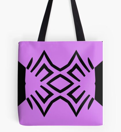 Lavender and Black Design by Julie Everhart Tote Bag