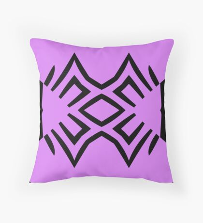 Lavender and Black Design by Julie Everhart Throw Pillow