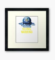 Earth Day Shirt Global Warming Tshirt Framed Print