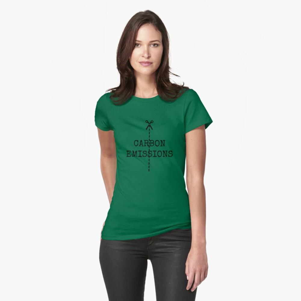 cut carbon emissions Womens T-Shirt Front