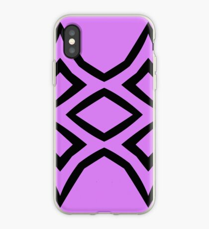Lavender and Black Design by Julie Everhart iPhone Case