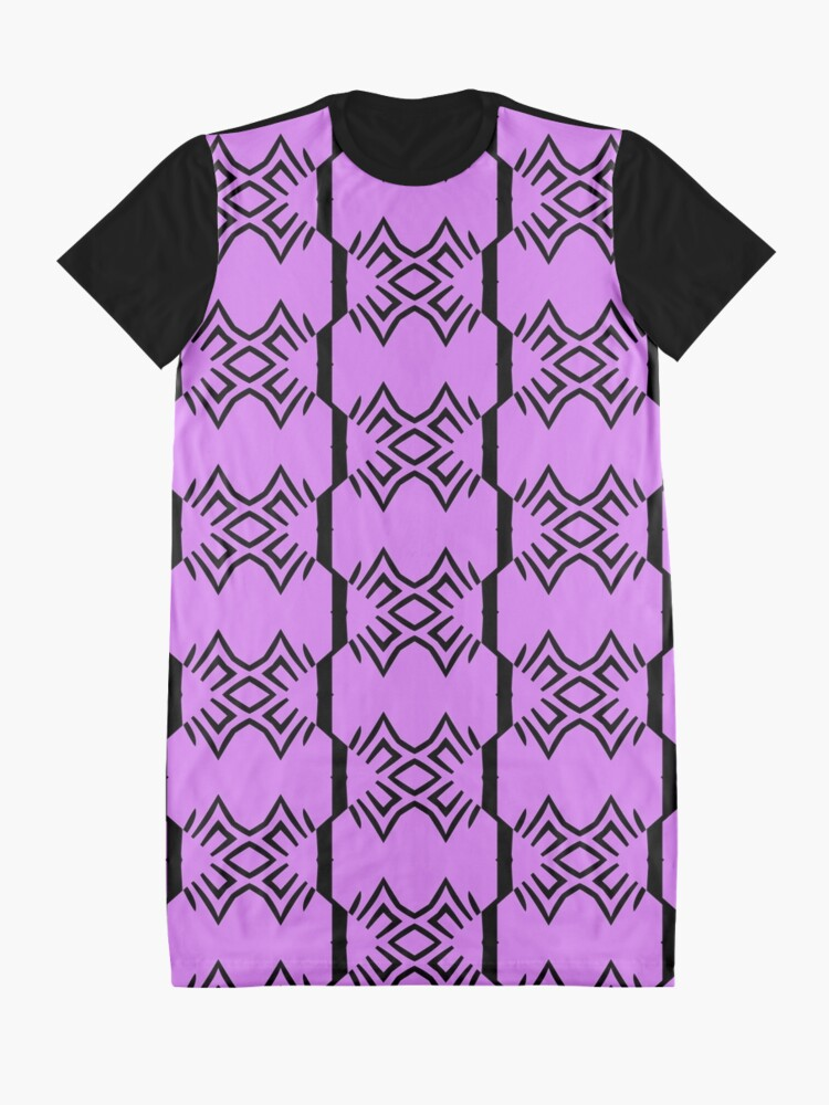 Alternate view of Lavender and Black Design by Julie Everhart Graphic T-Shirt Dress