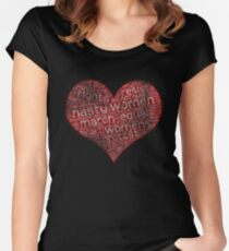 Nasty Women Heart Protest Women's Fitted Scoop T-Shirt