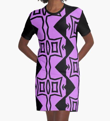 Lavender and Black Design 2 by Julie Everhart Graphic T-Shirt Dress